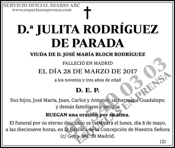 Julita Rodríguez de Parada